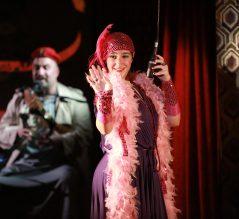 Hishik Bishik - Yasmina wearing a boa